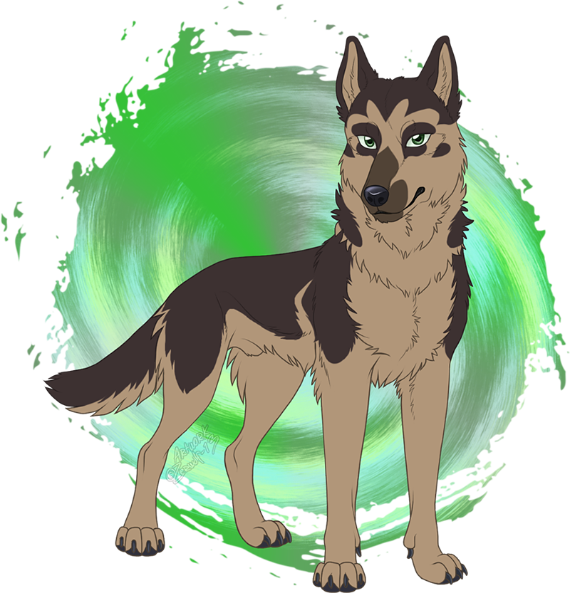 Pastor the German Shepherd Dog by Zerwolf