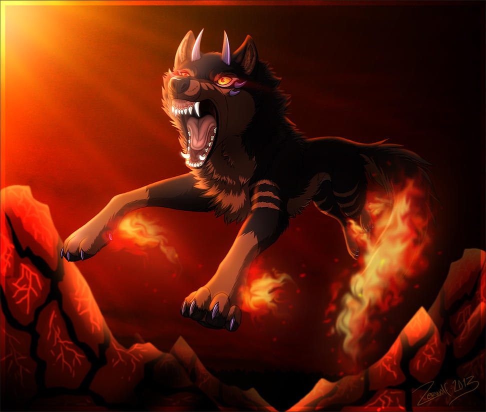 Black Fire Dog Pokemon