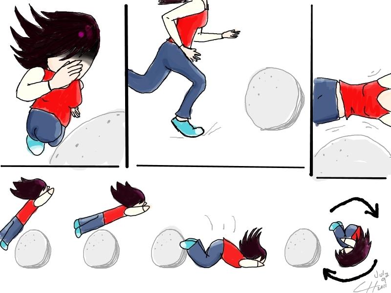 Emily vs. Rock by SuManana