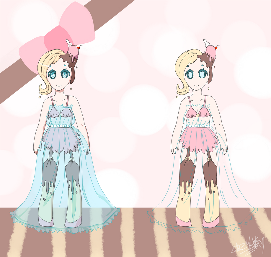 Sweet Adopts Collab- Sundae {AUCTION}~#1[OPEN!] by crazyawesomeepic