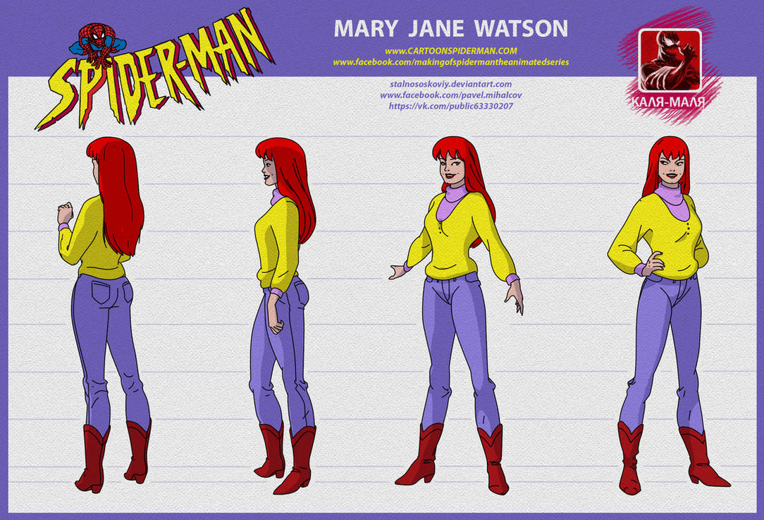 spider man the animated series MARY JANE WATSON by stalnososkoviy
