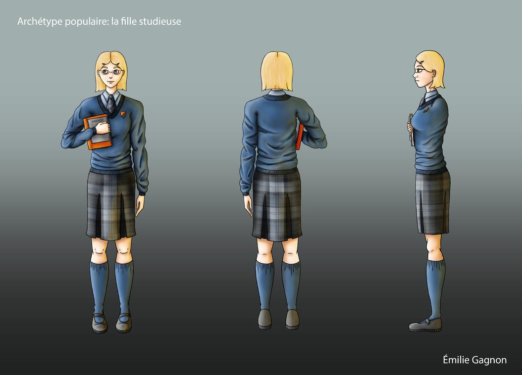 Archetype de la fille studieuse by LittleSun91