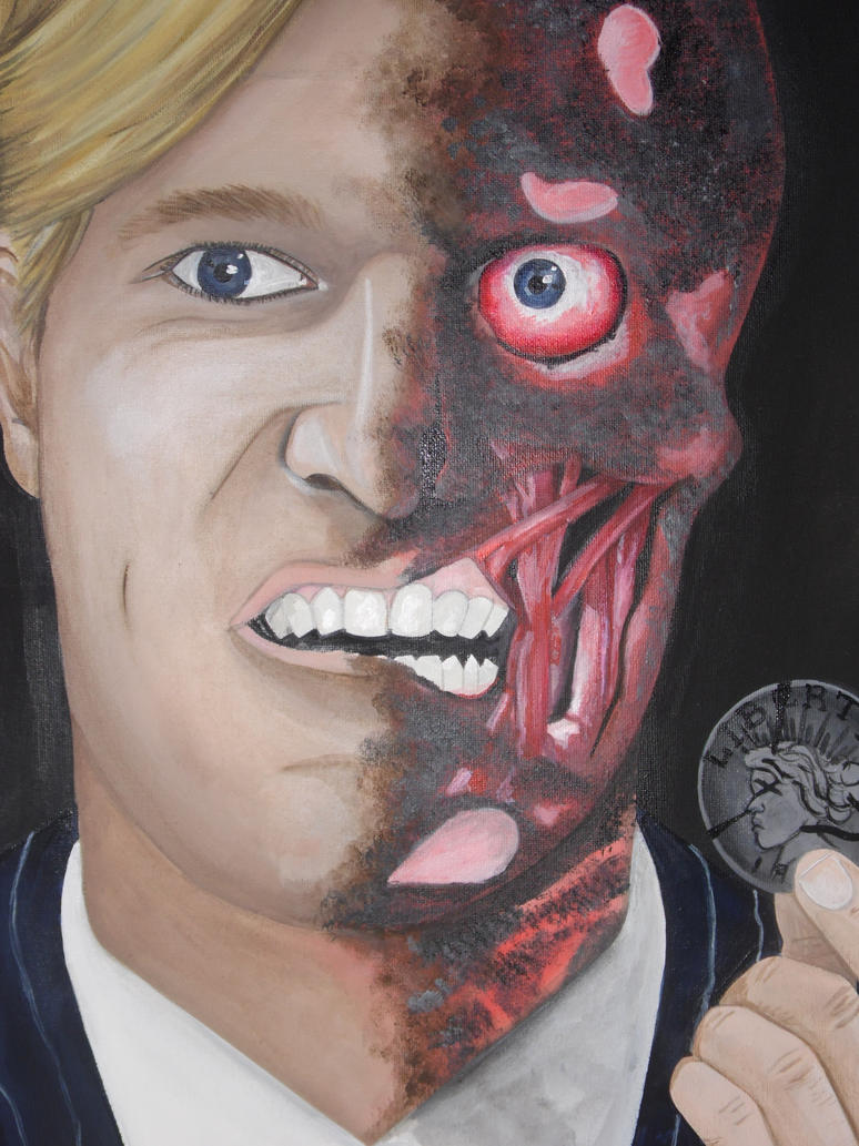 Harvey Dent/ Two Face by Cassieprouse