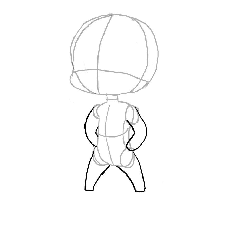 how to draw te outline of anga chibi
