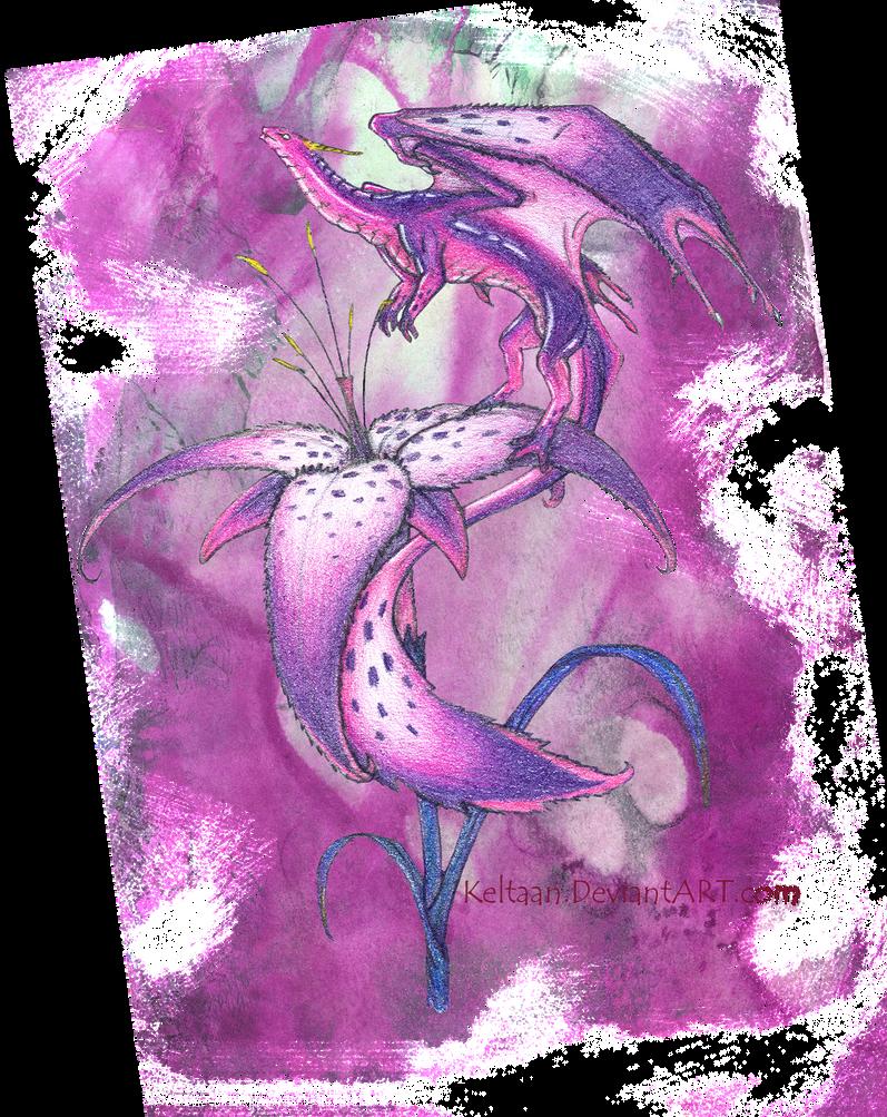 Flower Dragon. by Keltaan
