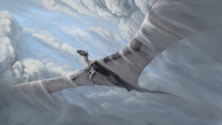 Soaring through clouds by Keltaan
