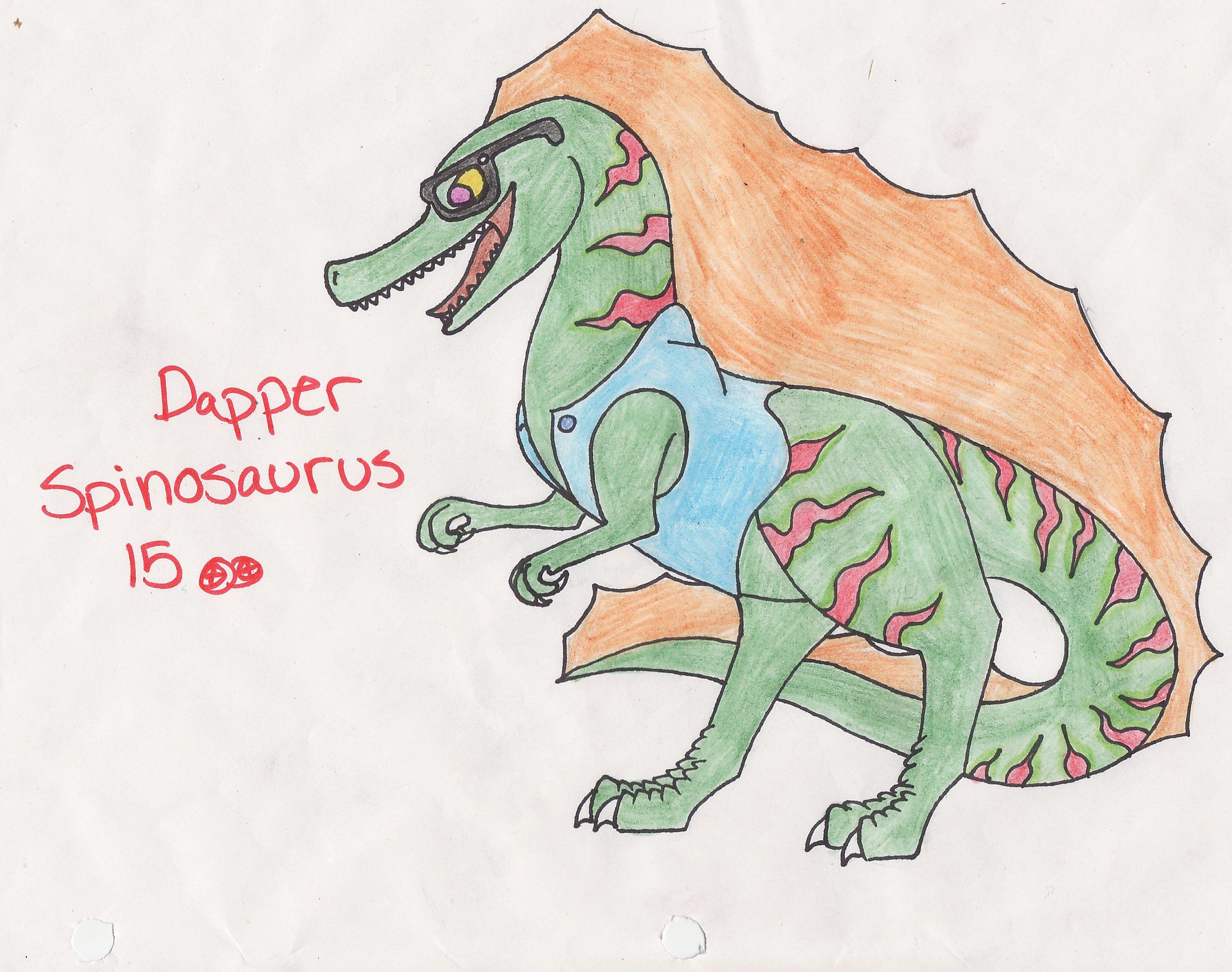 Dapper Spinosaurus Adoptable by Nightshadow-Horus