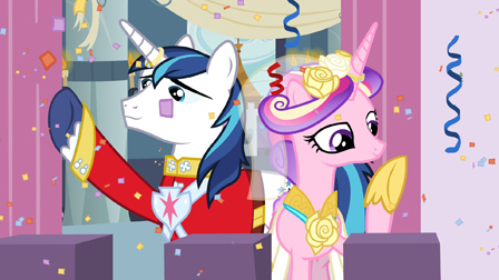 Princess Cadence and Shining Armor on the balcony by ...
