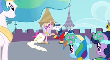 princess cadence and shining armor are kissing  by sawyermoonkitty d4wvsp9