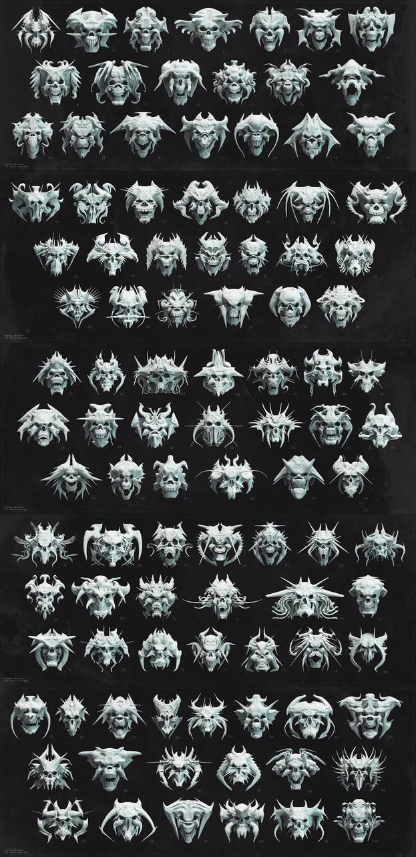100 Skull Designs