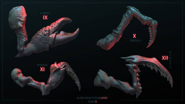 Alien Insectoid Limbs|IMM Brush|Part I|Page III