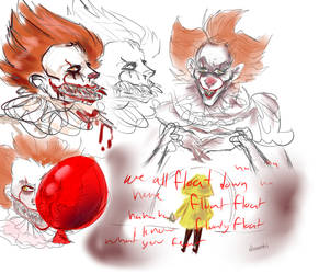 pennywise scribbles by cryptidz3