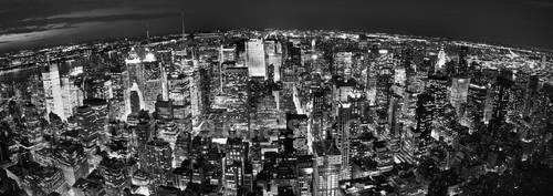 lights everywhere - panorama