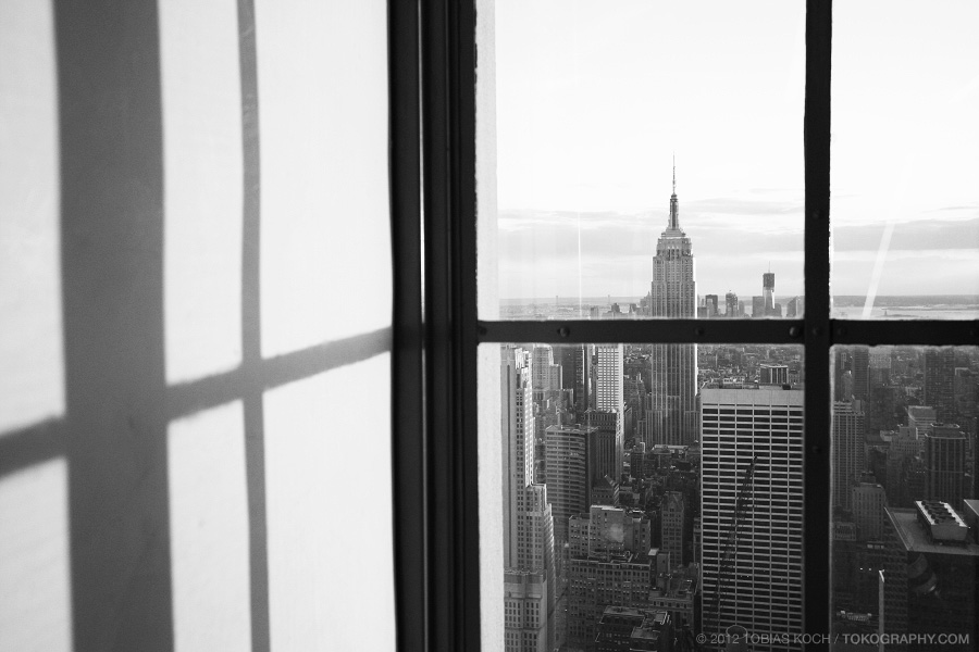 city behind the window by toko