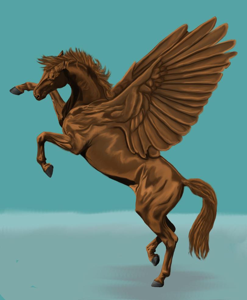 Golden pegasus by thuvia