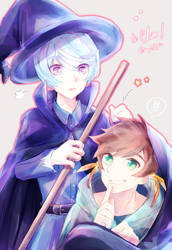 Witch and Warlock by LittleChisa
