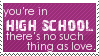 High School Stamp by Kiza-San