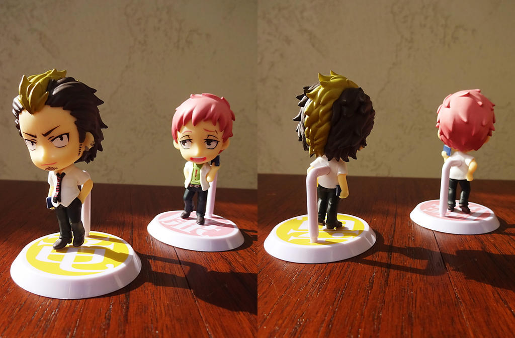 Ao no Exorcist Bon + Shima figures by SuperSarcosmic