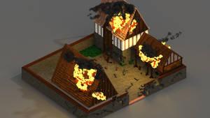 Farm on fire