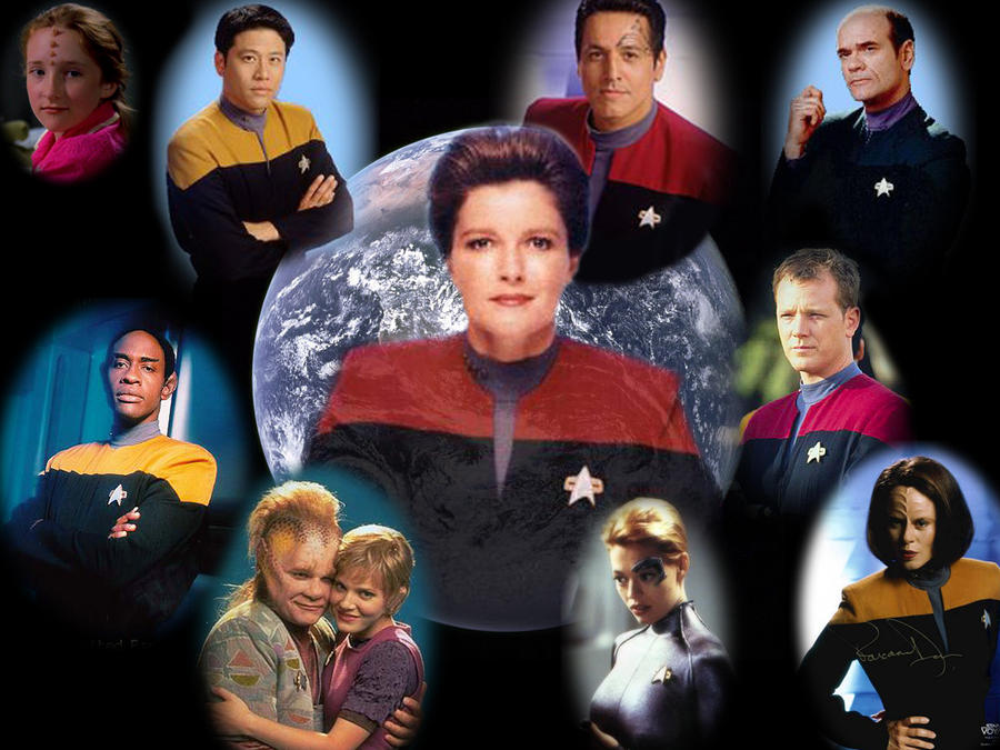 Star Trek Voyager Wallpaper by Stingrea51