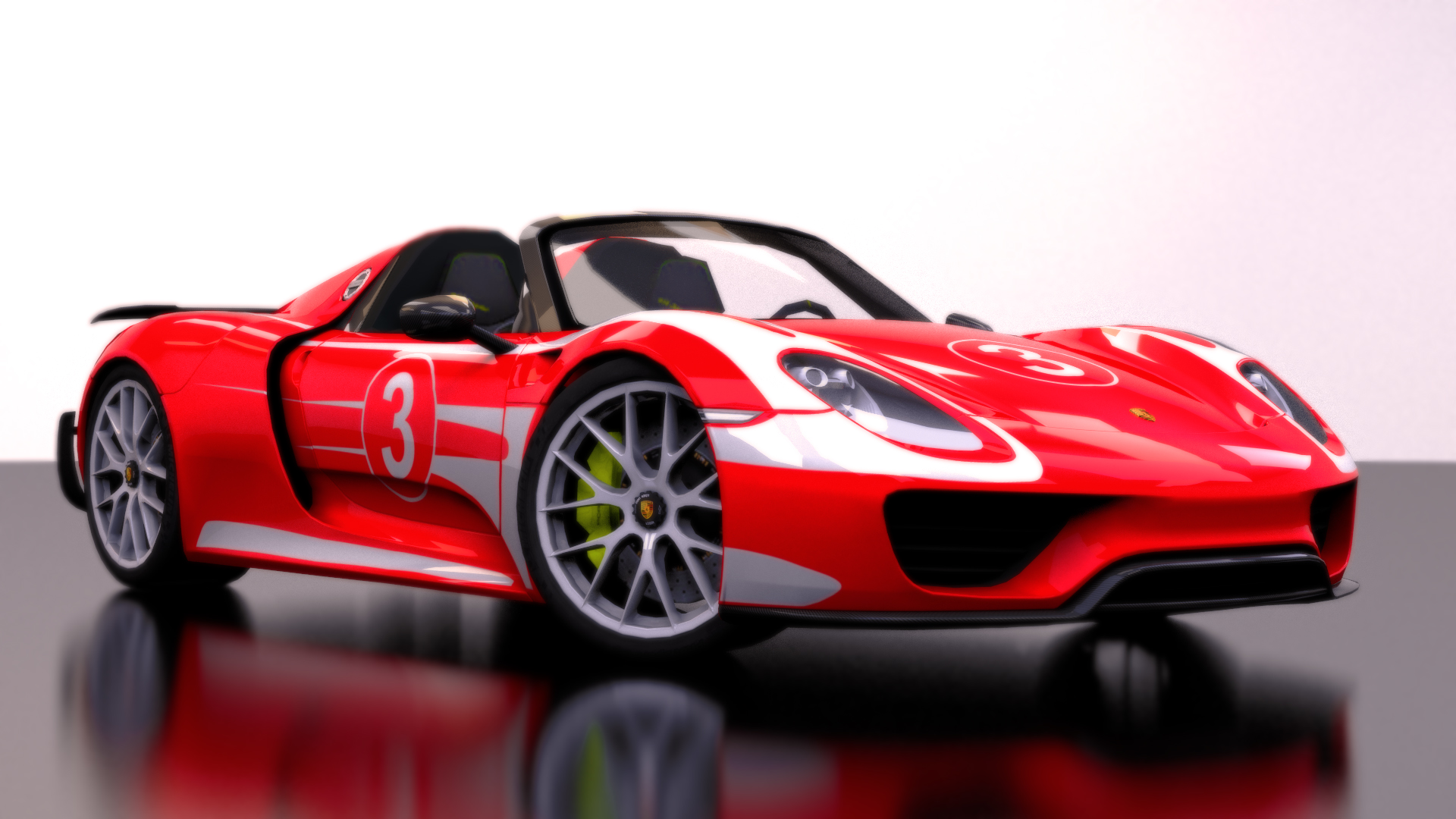 porsche 918 spyder weissach package red by bfg 9krc on. Black Bedroom Furniture Sets. Home Design Ideas