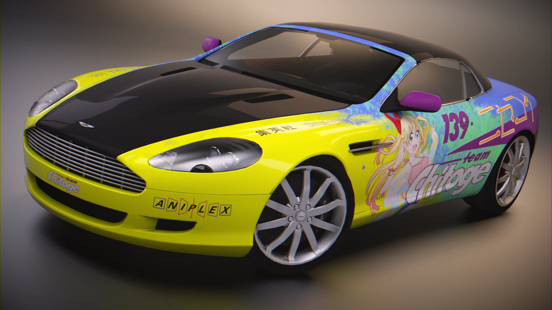 Aston Martin DB9 Volante (Hard Top) by BFG-9KRC