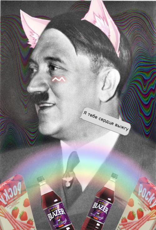 Adolf Kitty by KatrineHeydrich