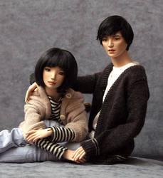 Yoko and Bao by JRDolls