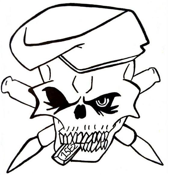 Army skull tattoo by 1990sLAWOMAN on DeviantArt