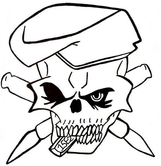 Army skull tattoo by 1990sLAWOMAN on DeviantArt