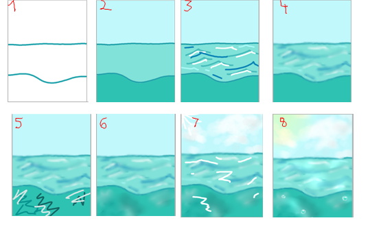 Water background tutorial by starrygirl123 on deviantart for Painting on water tutorial