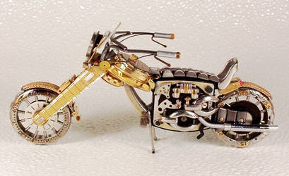 Motorcycles out of watch parts
