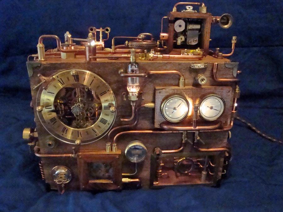 Steampunk Clock 1(1) by dkart71