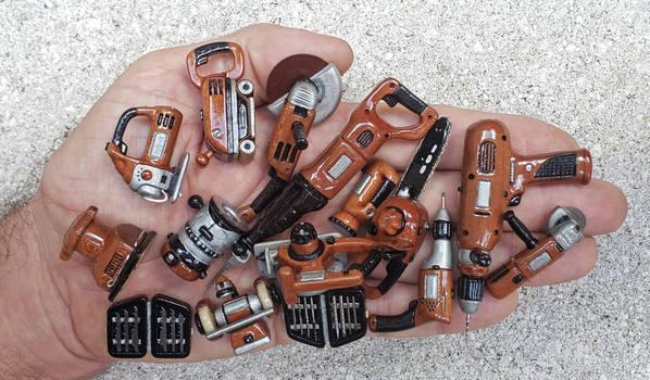 Mini tools made of wood