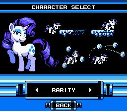 Mega Pony Character Selection - Rarity by KhaoMortadios