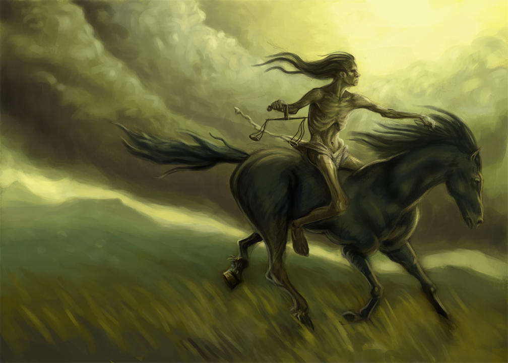four horsemen famine by taekwondonj on deviantart