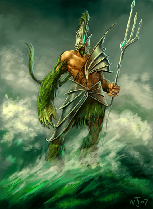 The Sea of Monsters Poseidon : SmiteSkinConcepts