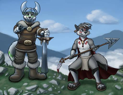 Warrior Wolves of Old