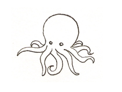Free Lineart: Octopus by ScareyBunny