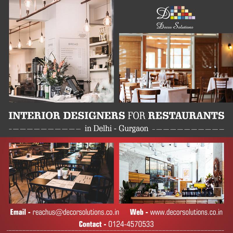 interior designers for restaurants in delhi by decorsolutions on