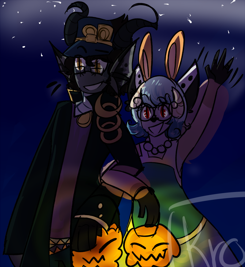 halloween date by AidoruKnight