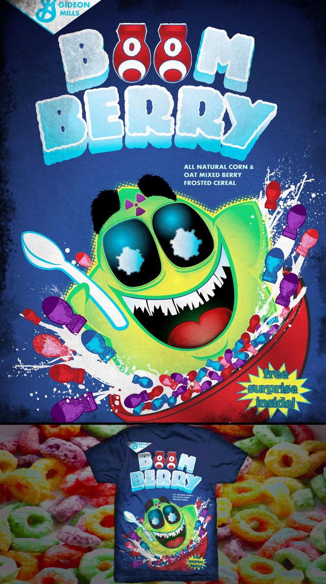 Boomberry Cereal box tshirt by tad-aster on DeviantArt