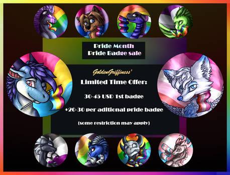 Pride Month Badge Sale