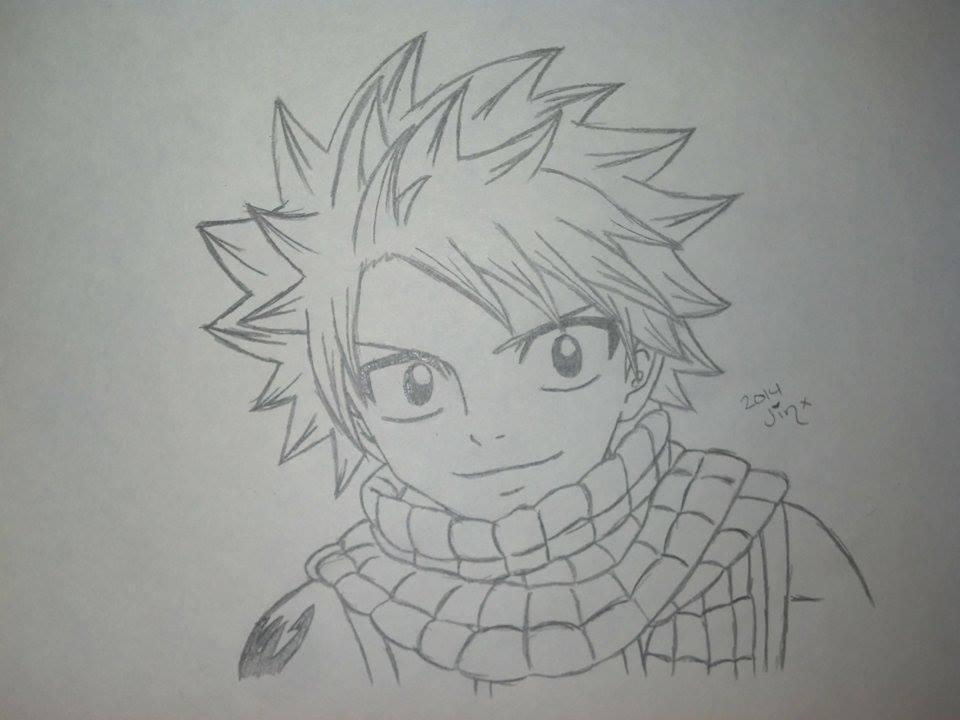 Sketch - Natsu Dragneel of Fairy Tail by Jinxeshisu