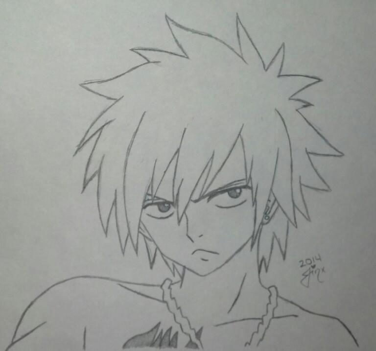 Sketch - Gray Fullbuster of Fairy Tail by Jinxeshisu
