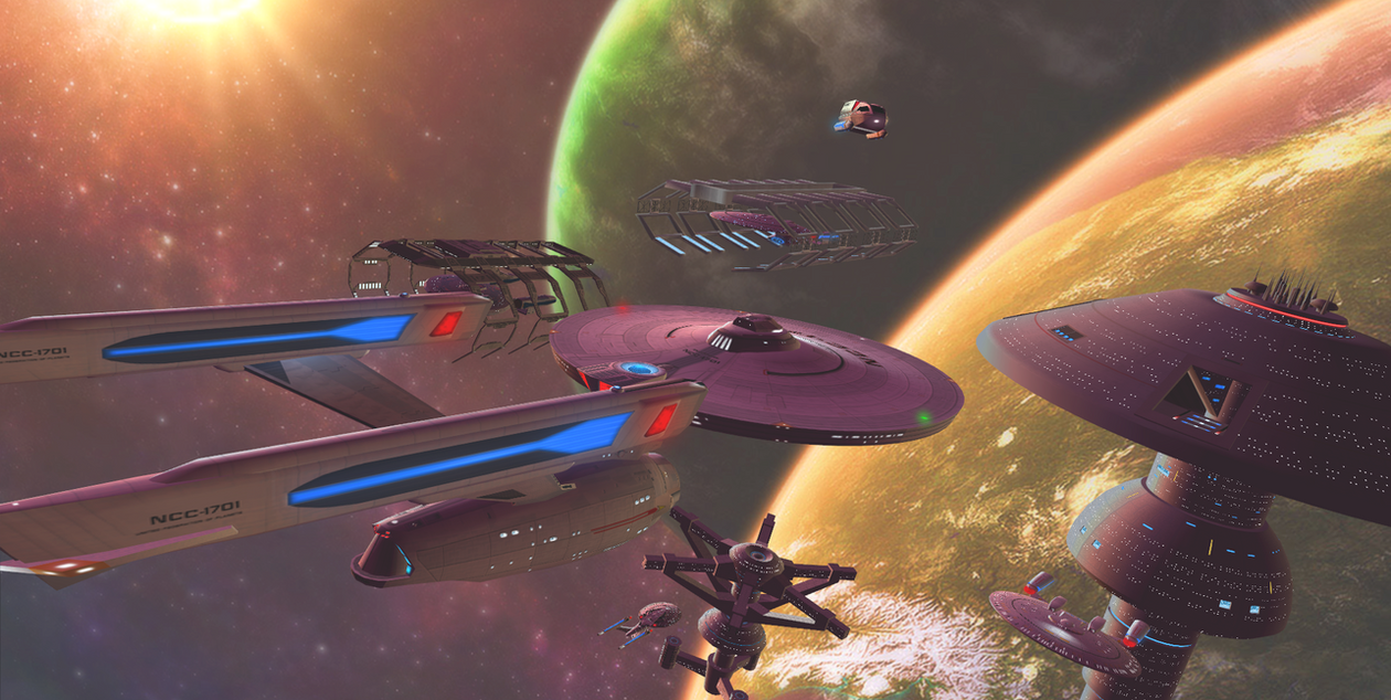 Arrival at Starbase 12 by DarthAssassin