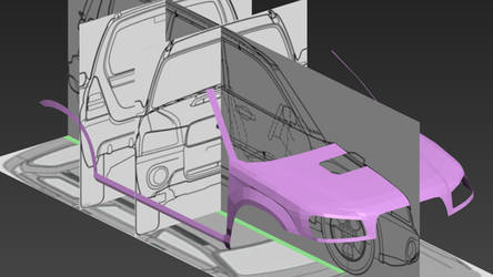 Subaru Forester SG 2004 3D model by PR1VACY
