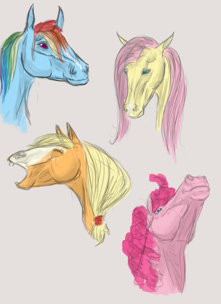 Pony horses by BuffyandBramble