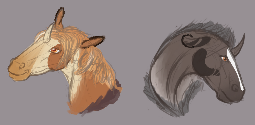Wildling Head Doodles by BuffyandBramble