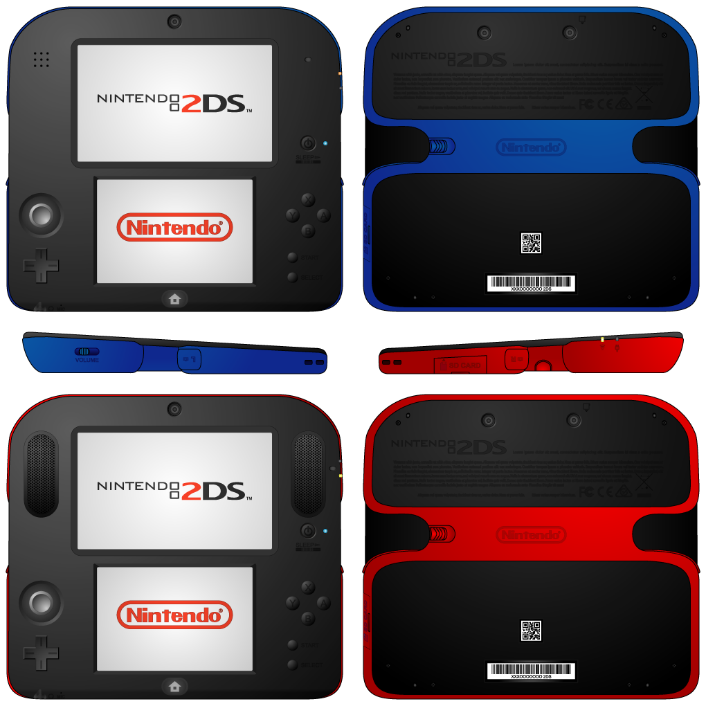 Nintendo 2ds Redesign By Yamitora1 On Deviantart